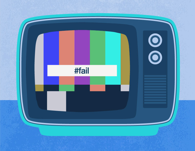 Social TV Hashtag FAIL